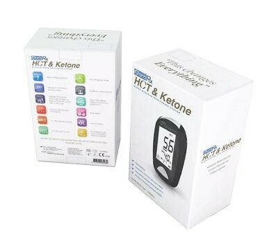 GlucoRx HCT Blood Glucose & Ketone Meter/Monitor/System - Brand New - RRP £59.99