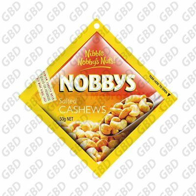 NOBBY'S SALTED CASHEWS 50G (x24)