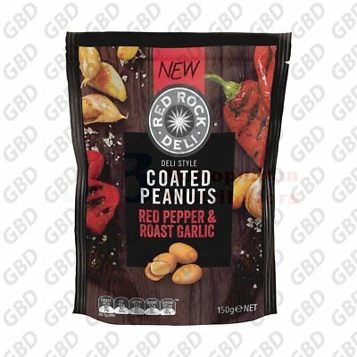 RED ROCK ROASTED PEPPER GARLIC NUTS 150G (x1)