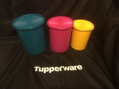 Tupperware Tall Canister Set in Bring Back Colours