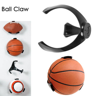 Ball Holder Claw Wall Mount Rack Display Football Basketball Rugby Soccer