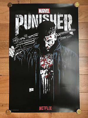 COMIC CON Exclusive SDCC 2017 THE PUNISHER Poster MARVEL NETFLIX Promo TV Show
