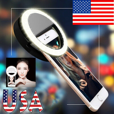 Selfie LED Ring Fill Light Camera Photography For iPhone 5S 6 6S 7 Plus Android