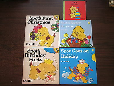 5 x SPOT THE DOG  Picture Books Eric Hill BIRTHDAY, XMAS, HOLIDAY, EASTER, TOYS