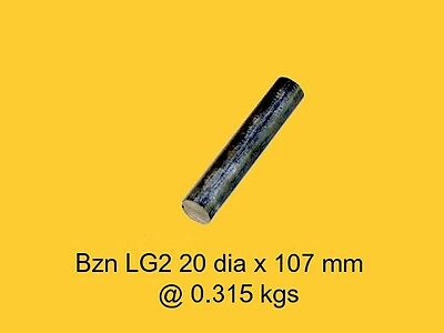 Bronze LG2 20 dia x 107 mm-Lathe-Mill-Drill