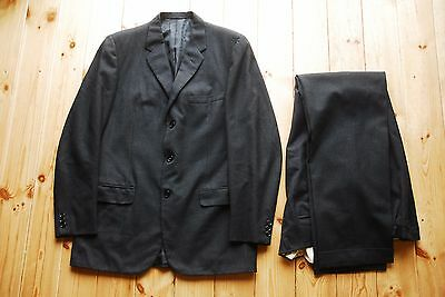 1950's Chester Barrie Hawkes Ltd Two Piece Grey Work Formal Suit 39L 36x34
