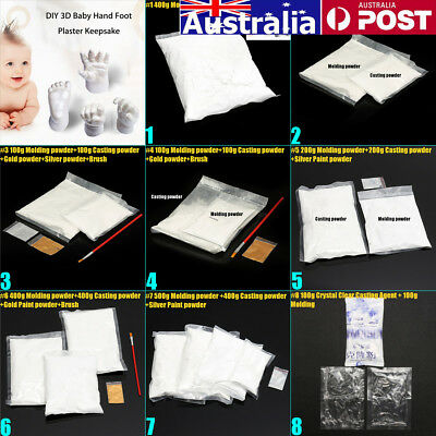 AU 10 Type Moulding Casting Kit 3D Baby Hand Foot Print Keepsake Safe Powder DIY