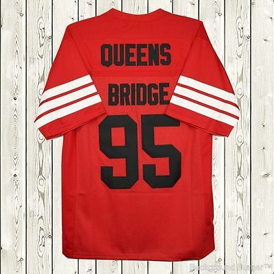 Prodigy #95 Hennessy Queens Bridge Movie Stitcked Red Football Jersey