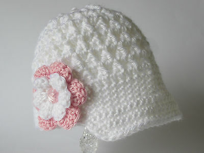Handmade Baby Girl Knitted Crochet Newsboy Hat