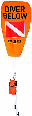 Mares Safety Stop Marker Buoy Scuba Diving Freediving Spearfishing Orange 415708