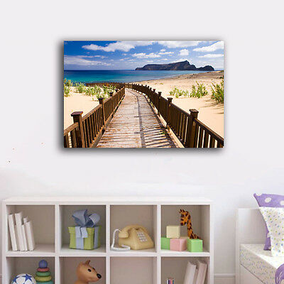Walk To Beach Holiday Stretched Framed Canvas Prints Wall Art Home Decor Gift