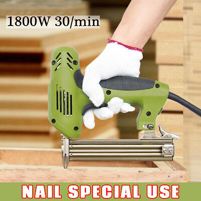Electric Brad Straight Nail Staple Gun Special Use Heavy-Duty Woodworking Tool