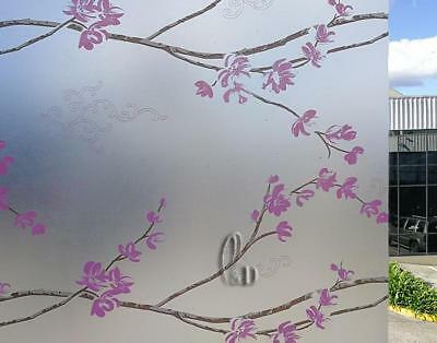 90cm x1m Floral Privacy Frosted Frosting Removable Glass Window Film c1301-1