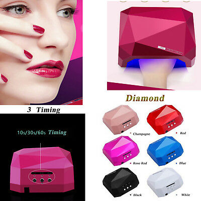 36W LED Nail Dryer Diamond Curing Lamp Machine For UV Gel Nail Polish New