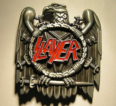 Slayer Thrash Metal Band Eagle and Swords Belt Buckle to attach to own belt New