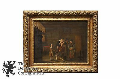 David Teniers the Younger Old Master Antique Oil Doctor Medical Surgery 17th C.