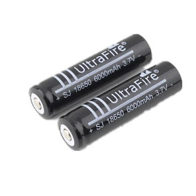 2x 18650 UltraFire Rechargeable 3.7V Li-ion Battery For Flashlight Torch Laser