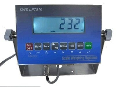 Scale Weighing Systems LP7510 SS LCD Indicator with Dual Input