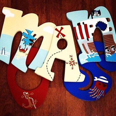 Circo Pirate Adventures Inspired Painted Wood Letters