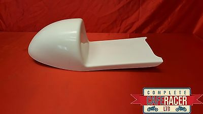 Honda Cr Style Fibreglass Cafe Racer Seat Finished In White
