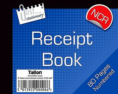 Numbered Duplicate Receipt Book NCR (No Carbon Required) Half Size - WH2-R2C 086
