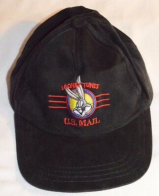 Vtg Baseball Cap Looney Tunes Stamp Collection US Mail Hat Snap Back Bugs Bunny