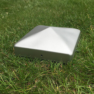 "Galvanised Metal Fence Post Caps Pyramid Shape 100Mm Square- For 4"" Posts"