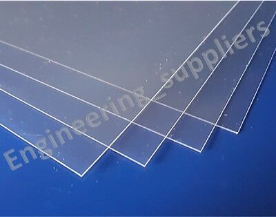 Transparent Clear 0.24mm 240 micron Thick PVC Plastic Sheet A6, A5 & A4