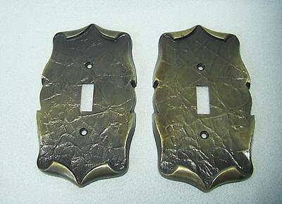 Vintage AMEROCK CARRIAGE HOUSE Single Switch Cover Plates English Antique Brass