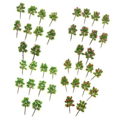 Pack/40pcs DIY Architectural Landscape Scenery DIY Model Trees Z Scale 1:200