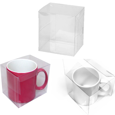 10 x Clear Acetate Mug Presentation Gift Boxes