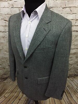 Brooks Brothers 346 Sport Coat Suit Jacket Wool 2 Btn Gray Barleycorn Men's 40R
