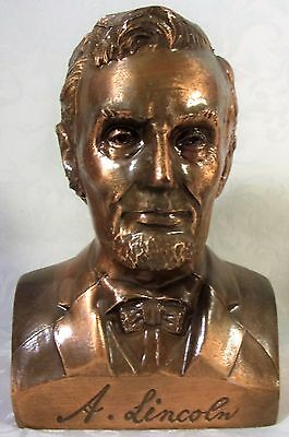 Vintage President Abraham Lincoln Coin Bank Banthrico USA Made Copper Finish WoW