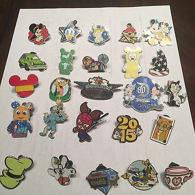 Disney Trading Pins Lot Of 25 100% Tradable  No Doubles Fast Usa Shipping 1
