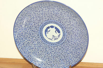 Antique Japanese Blue And White Hand Painted Porcelain Plate