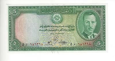 Afghanistan   5 Afg 1939,  King.    Choice Unc