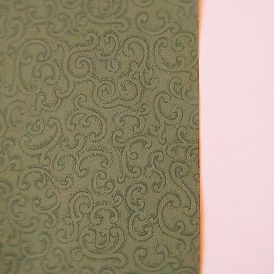Vintage Wallpaper Sage and Cream Filigree Scroll by Hodsoll McKenzie