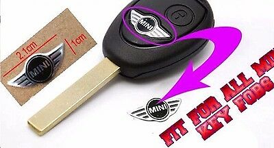 Mini Cooper Remote Key Fob Logo Emblem Sticker Decal Badge 20Mm