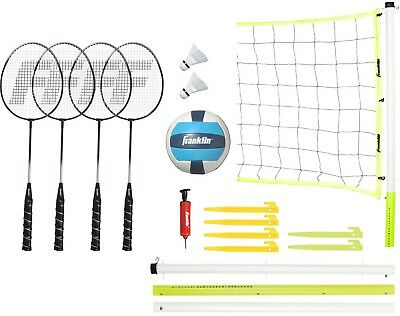 Franklin Sports Advanced Badminton And Volleyball Set For Outdoor Party Games