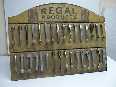 1930's Gas Station Car Door Handle Counter  Display Sign Ford Chevrolet Chrysler