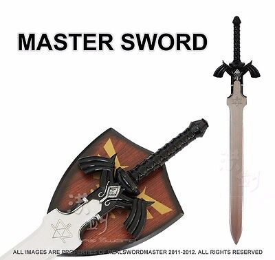 Full SIze Dark Link's Master Sword from the Legend of Zelda with Plaque New