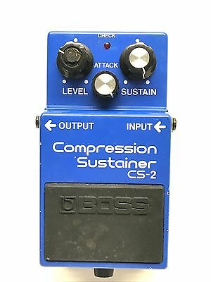 Boss CS-2, Compression Sustainer, Made In Japan, 1985, Guitar Effect Pedal