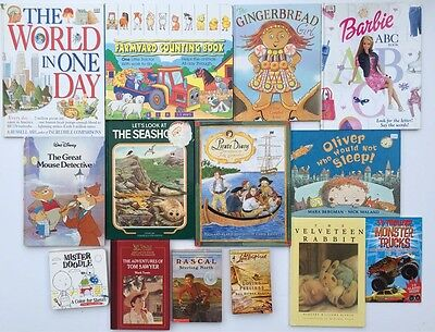 Huge Lot Of 194 Assorted Children's Books: Learning, Coloring, Reading