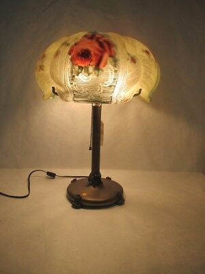 Magnificent C.1910 Pairpoint Puffy Lamp Signed Base And Shade
