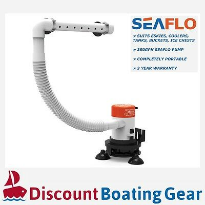 SEAFLO Portable 12v Livewell Aerator Pump Kit for Esky Cooler Bucket & Boats