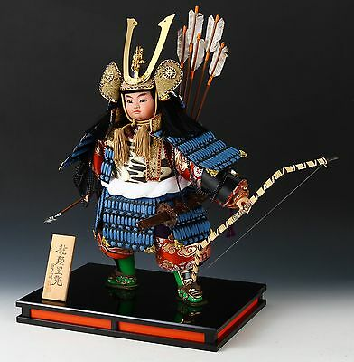Japanese Samurai Doll -Bow and Arrow- Blue Samurai