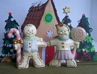NEW in Box - LENOX The Gingerbread Salt & Pepper Set - Certificate Included