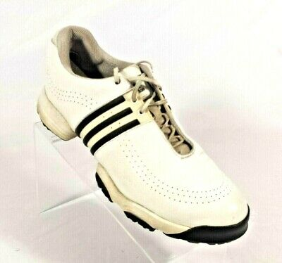 best service e2a9b d6f65 Women s Adidas Golf Shoes Soft Spike White Black Stripes Size 9 ...