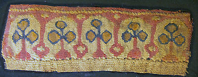 Ancient Egyptian  Coptic Tapestry Fragment, 500-700 Ad,