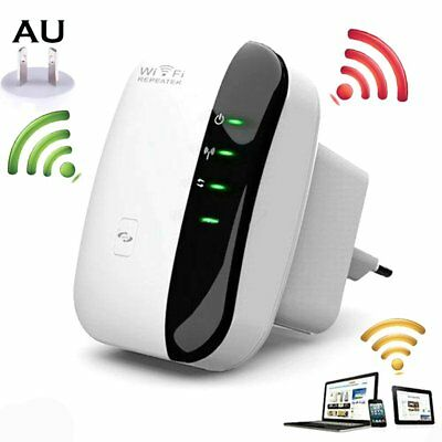 300Mbps Signal Extender Booster Wireless AP Router Wifi Repeater 802.11 AU Plug